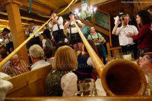 Alphorn players at Schützen-Festzelt